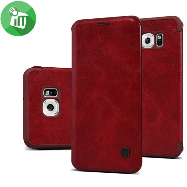 check out d0d90 0acda Nillkin Samsung S6 Edge Plus QIN Series Leather Flip Cover