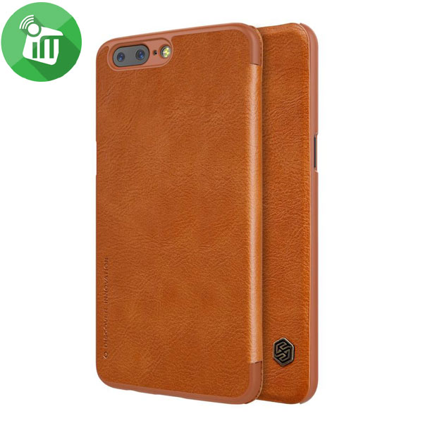 separation shoes a43fc a4c7d Nillkin Qin Series Leather case for OnePlus 5