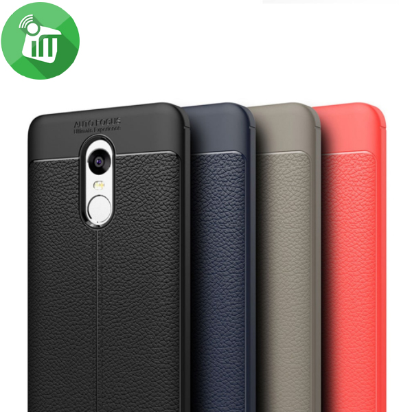 buy popular b24f6 3f9dc Auto Focus Soft TPU Leather Back Cover For Xiaomi Redmi Note 4X