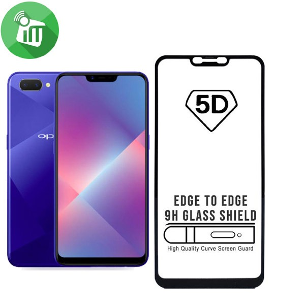 iScreen 5D Full Glue Glass Screen Protector For OPPO A3S